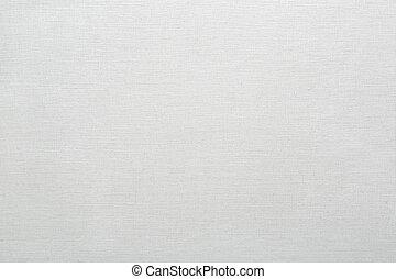 linne, kanfas, struktur, vit fond