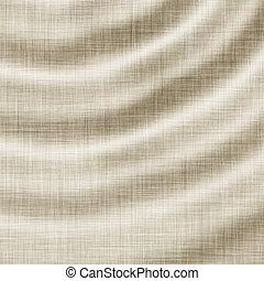linnen, textuur, golvend