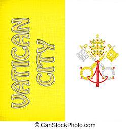 lino, bandiera, città, vaticano