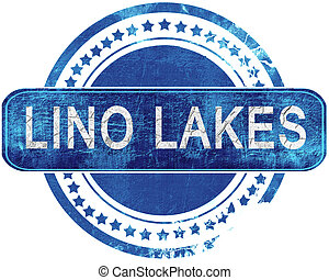 lino lakes stamp, isolated on a solid white background