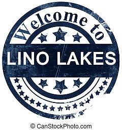 lino lakes stamp on white background