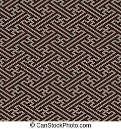 lino, oriental, seamless, patrón