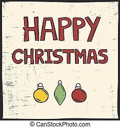 linocut, kerstmis kaart, stijl