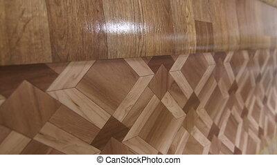 Linoleum flooring background tracking shot