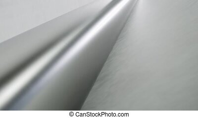 Linoleum technology production. Application of PVC-layer on ...