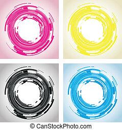 lins, abstrakt, kamera