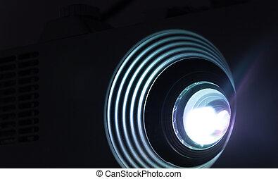 lins, fotografera, projektor
