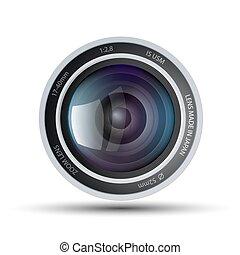 lins, kamera
