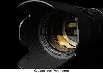 lins, kamera, telefoto
