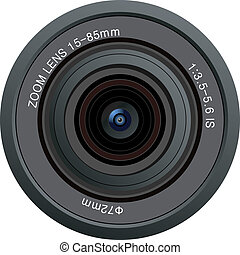linse, fotoapperat, vektor