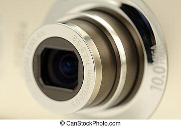 linse, fotoapperat, zoom, digital