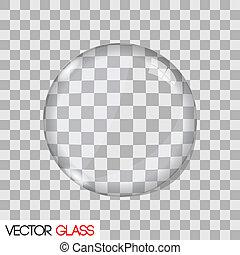 linse, glas, vektor, abbildung