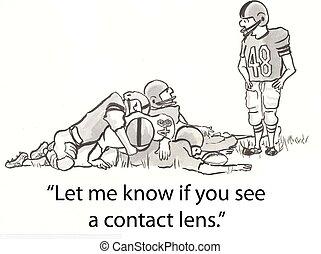linse, kontakt
