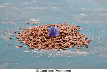 Linseed and common flax on weathered concrete