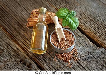 linseed, olie, macerated, droog