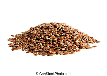 Linseed on a white background