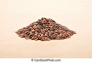 Linseed on brown background