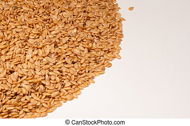 Organic linseed in a closeup take, food background