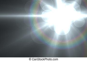 linsenleuchtsignal, abstrakt, hintergrund