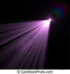 linsenleuchtsignal, vektor, effekt, eps8