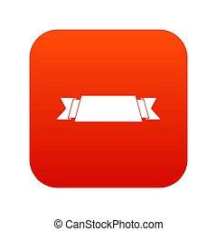 lint banier, pictogram, digitale , rood