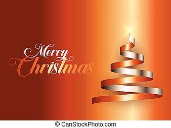 lint, boompje, kerstmis, achtergrond