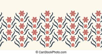 lint, trim., illustration., yule, rood, washi, elegant, vector, abstract, winter, achtergrond., feestelijk, seamless, omslag, cadeau, monochroom, stars., grens, pattern., hand, kristal, getrokken, sneeuwvlok, ecru, cassette, modieus, vakantie
