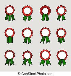 linten, toewijzen, medailles