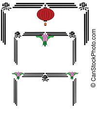linterna china, marcos