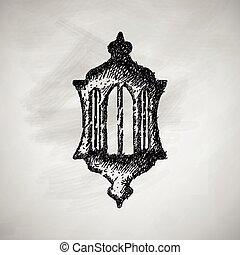 linterna, icono