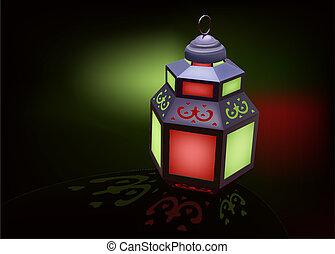 linterna, ramadan, ideal