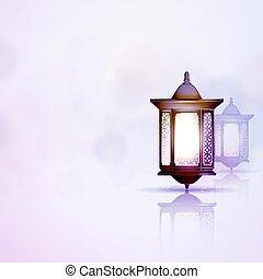 linterna, ramadan, kareem