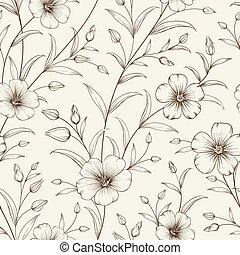 linum, pattern.