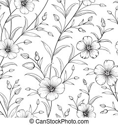 Linum pattern. - Linum seamless pattern for fabric swatches....