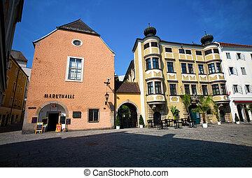 linz, austria, old town - the old town in linz, austria....
