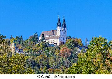linz, basílica, austria, poestlingberg