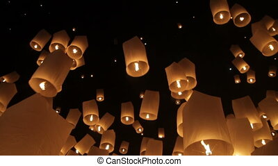 Loi Krathong Firework Festival in Chiangmai