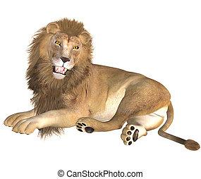 lion - 3d render