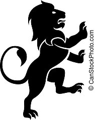 Lion - A stylised lion rampant, like the symbol for Leo