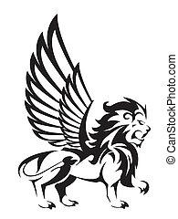 lion, ailes