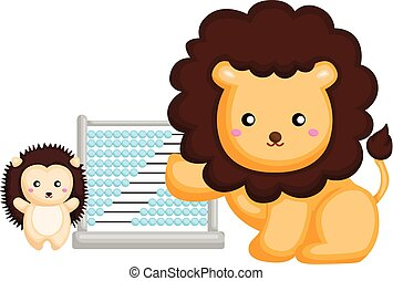 lion and porcupine learning with abacus
