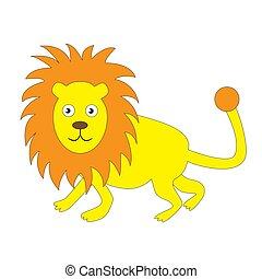 lion, arrière-plan., adulte, isolé, blanc