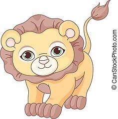 lion bébé