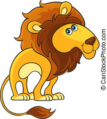 Lion. Cartoon african wild animal - Cartoon african wild...