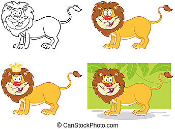 Lion Cartoon Character.Collection