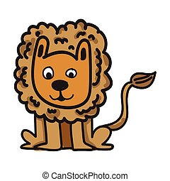 lion cartoon icon
