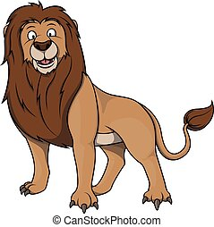 Lion cartoon illustration
