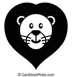Lion Cartoon - Simple cartoon of a cute lion