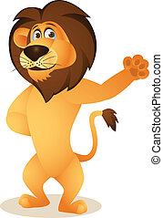 Lion Cartoon - Vector Illustration Of Lion Cartoon