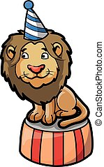 lion circus illustration